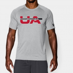 fitness under armour-Wordmark Striketrough T-Shir